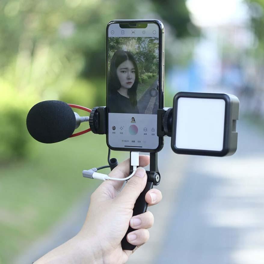 mocowanie na mikrofon lampe do smartfona