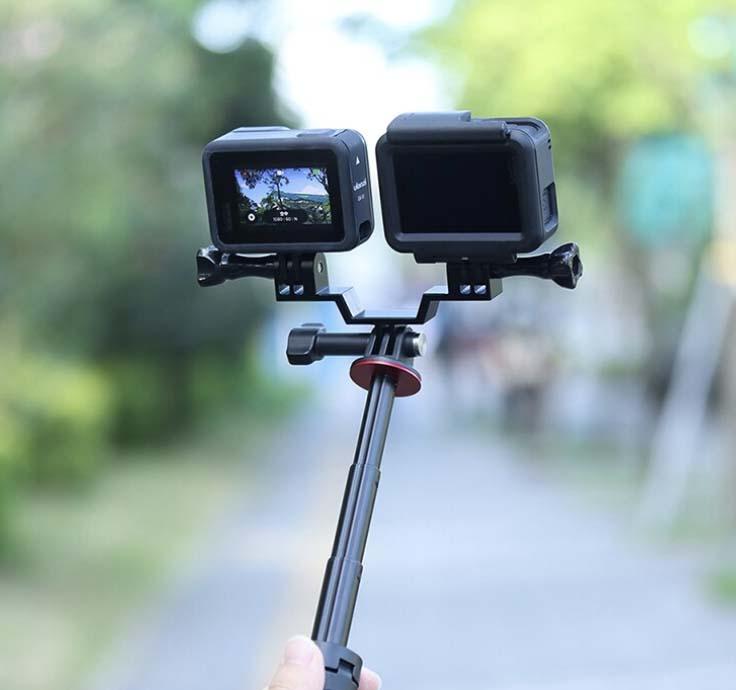 mocowanie. na dwie kamery sportowe
